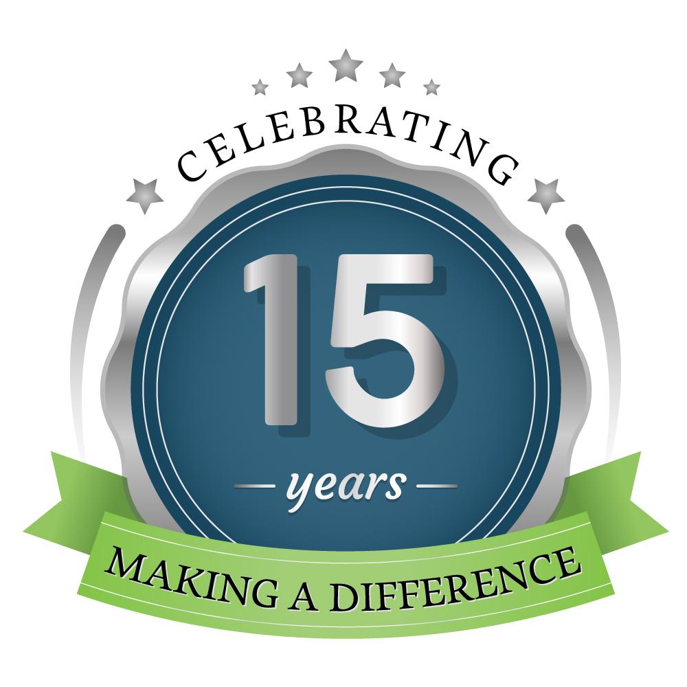 15 year emblem small